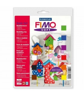 FIMO Soft set 9 culori 225g +accesorii