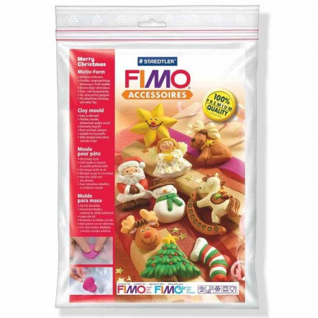 FIMO mould Merry Christmas 8742-12